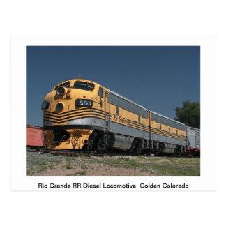 Carte postale de trains