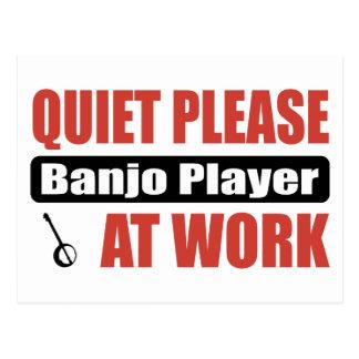 Carte Postale De tranquillité joueur de banjo svp au travail