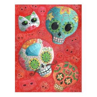 Carte Postale De trois jours des crânes morts