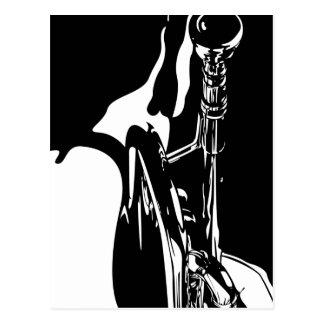 Carte postale de trompettiste de jazz