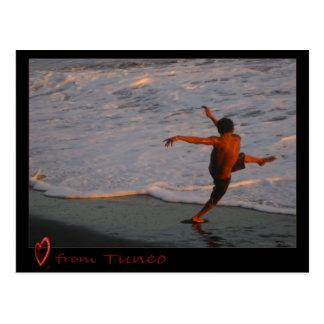 Carte postale de Tunco - danse de coucher du