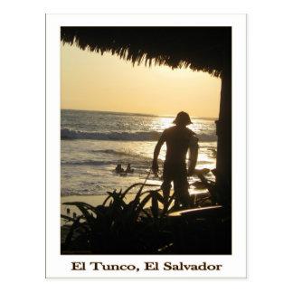 Carte postale de Tunco - surfer allant
