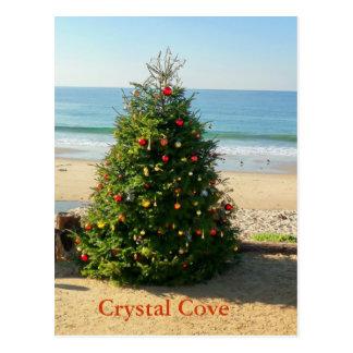 Carte postale de vacances d'arbre de Noël