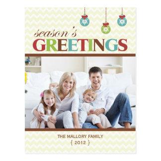 Carte postale de vacances de Chevron de Bonnes Fêt