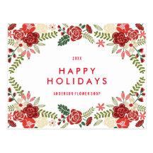 Carte postale de vacances de la guirlande | de