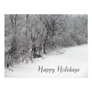Carte postale de vacances de Noël en bois de Milou