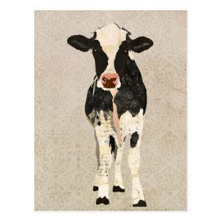 Carte postale de vache à onyx et à ivoire
