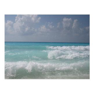 Carte postale de vagues de Cancun
