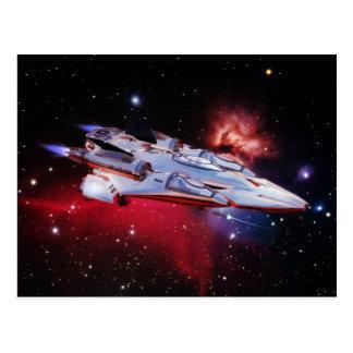 Carte postale de vaisseau spatial