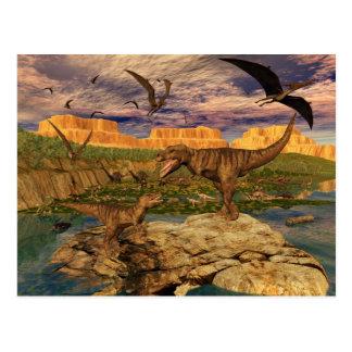 Carte postale de vallée de dinosaure