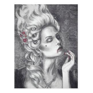 Carte postale de vampire de carte postale de Marie