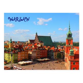Carte postale de Varsovie