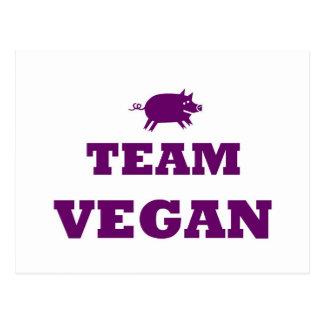 Carte postale de végétalien d'équipe