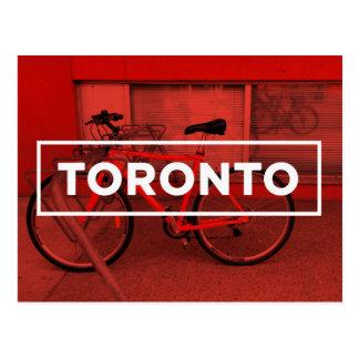 Carte postale de vélo de Toronto