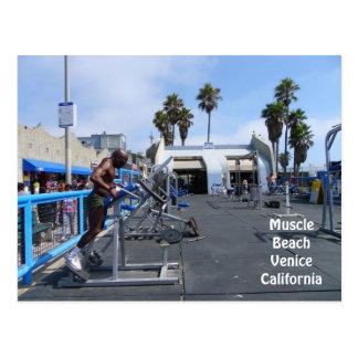 Carte postale de Venise de plage de muscle !