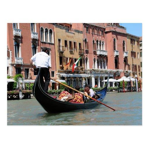 Carte postale de Venise, Italie