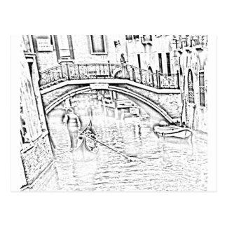Carte postale de Venise-Taxi