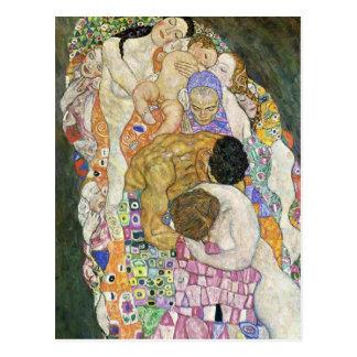Carte postale de vie et mort de Gustav Klimt