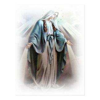 Carte postale de Vierge Marie