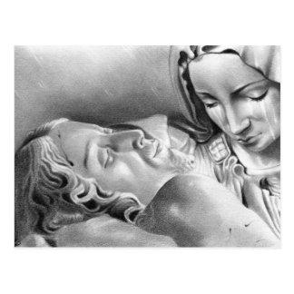 Carte postale de Vierge Marie de Jésus-Christ