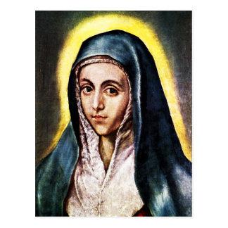 Carte postale de Vierge Marie d'El Greco