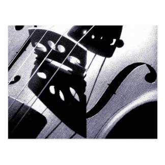 Carte postale de violon