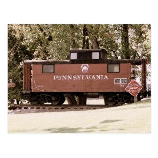 Carte postale de voie ferrée de la Pennsylvanie