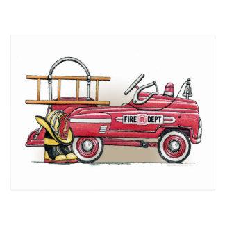 Carte postale de voiture de pédale de camion de