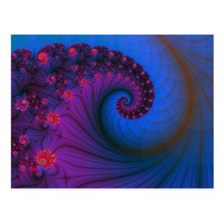Carte postale de vortex de rangée de pavot