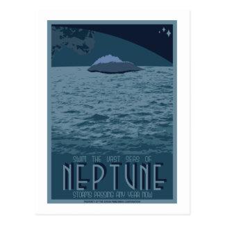 Carte postale de voyage dans l'espace