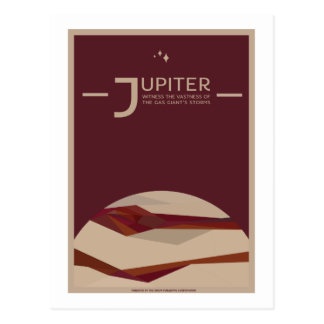 Carte postale de voyage dans l'espace - Jupiter