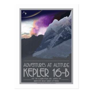 Carte postale de voyage dans l'espace - Kepler 16