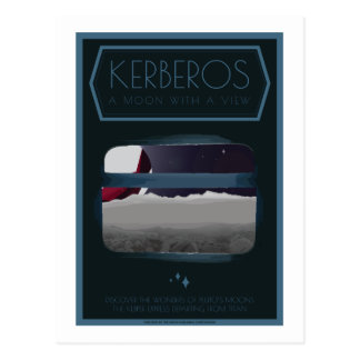 Carte postale de voyage dans l'espace - Kerberos