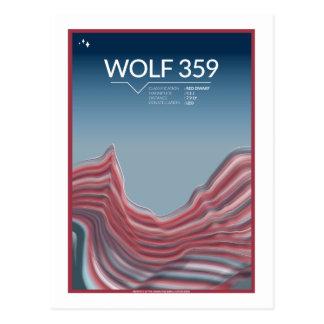 Carte postale de voyage dans l'espace - loup 359
