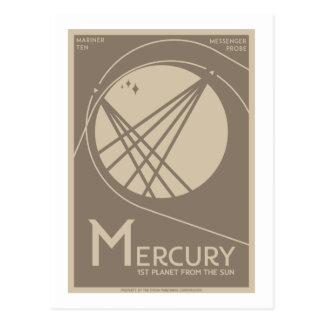 Carte postale de voyage dans l'espace - Mercury
