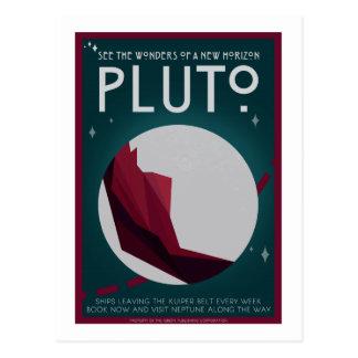 Carte postale de voyage dans l'espace - Pluton