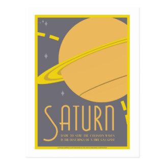 Carte postale de voyage dans l'espace - Saturn
