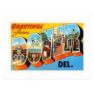 Carte postale de voyage de Douvres Delaware DE Old