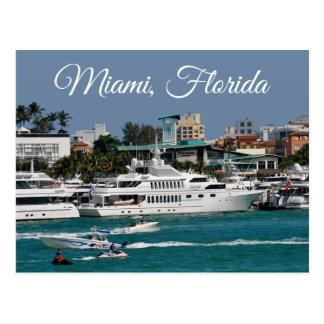 Carte postale de voyage de la Floride de marina de