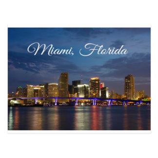 Carte postale de voyage de la Floride d'horizon de