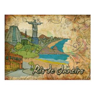 Carte postale de voyage de Rio de Janeiro du