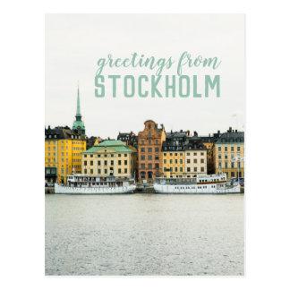Carte postale de voyage de Stockholm Suède