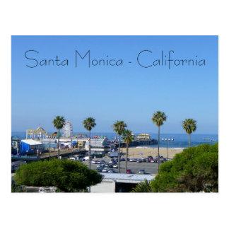 Carte postale de vue de Santa Monica !
