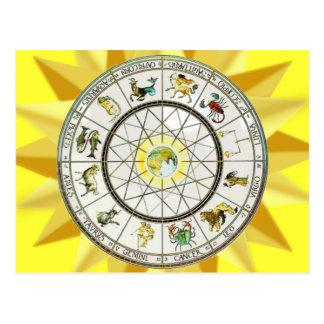 Carte postale de zodiaque