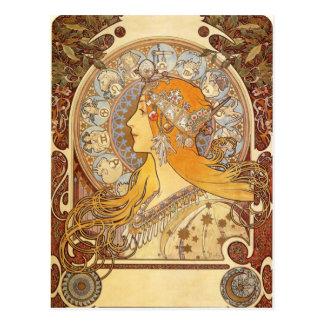 Carte postale de zodiaque de Nouveau Alphonse
