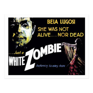 Carte postale de zombi blanc