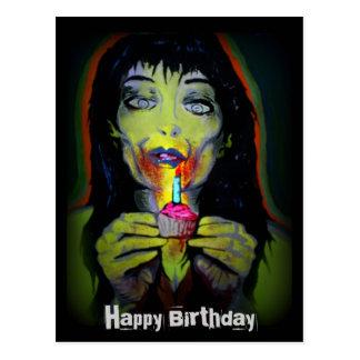 """Carte postale """"de zombi d'anniversaire"""""""