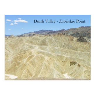 Carte Postale Death Valley/carte postale point de Zabriskie !