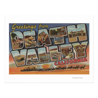 Carte Postale Death Valley, la Californie - grandes scènes de