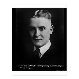 Carte Postale Début de Scott Fitzgerald cadeaux etc. de citation